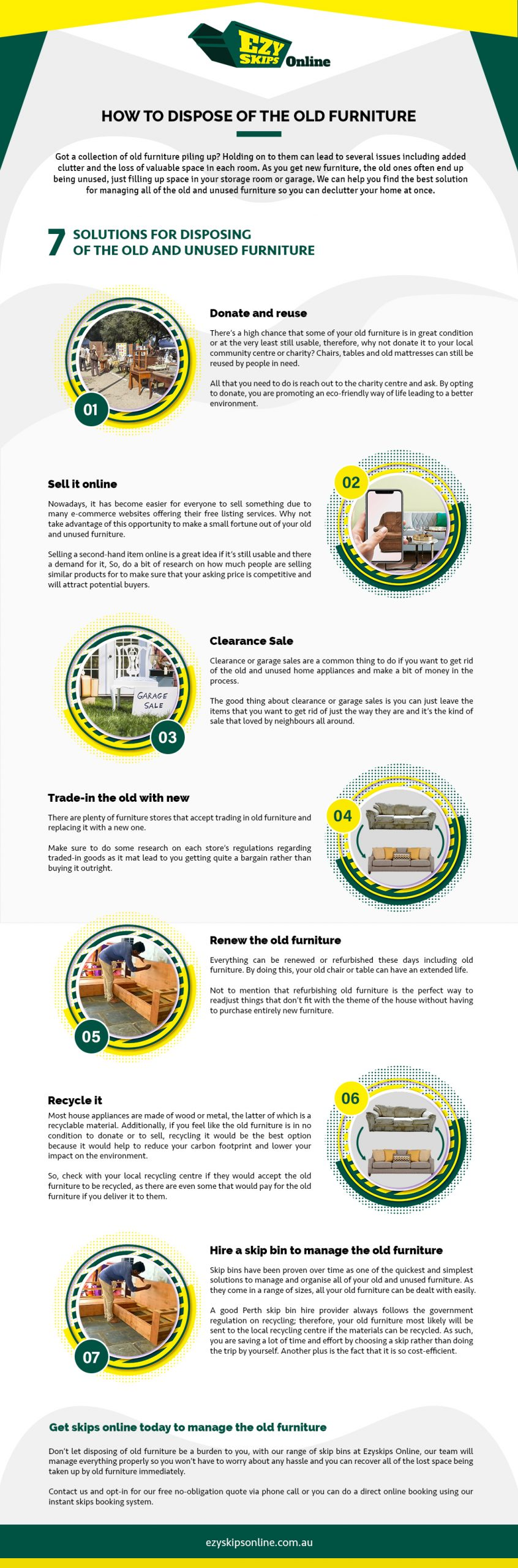 how to dispose of the old furniture (infographic)